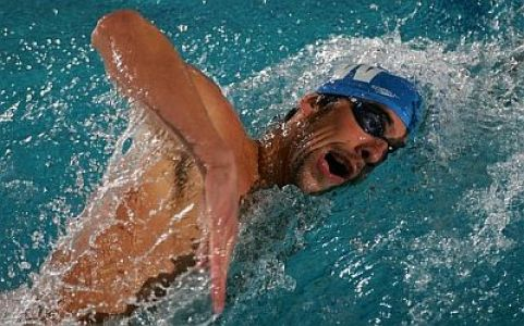 michael phelps front crawl style swimming