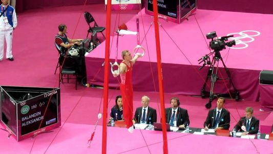 Russian Rings - Olympics 2012 - Mens Gymnastics